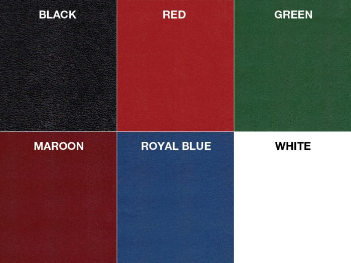 Standard Leatherette Colors